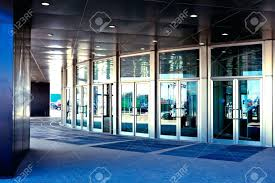office entrance doors. Aluminium Office Entrance Doors In Modern Stock Photo 4762776 Building