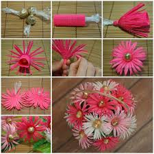 Making Flower Using Crepe Paper Diy Crepe Paper Chocolate Gerbera Flower Bouquet Good Home Diy