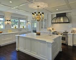 beautiful white kitchen cabinets: another beautiful white kitchen with dark stained oak hardwood floors