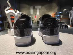 office air force 1. Nike Air Force 1 Ultra Flyknit Mid Low Unisex White Black Gray Singapore Office