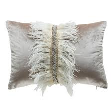 Decorative Pillows With Feather Design Best Cloud32 Design Ava Velvet With Ostrich Feathers Decorative Pillows
