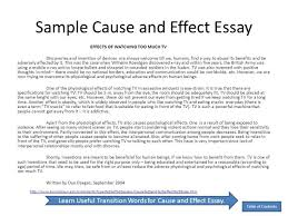 essay cause and effect example cause and effet essay research  cause and effect essay samples essay cause and effect example