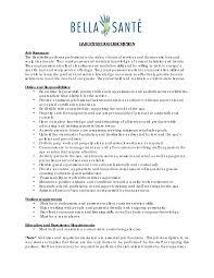 Cover Letter Cosmetologist Description Cosmetologist Job