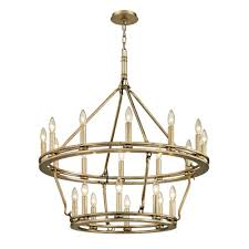 troy lighting sutton 20 light champagne silver leaf 32 in d chandelier