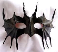 genuine italian leather black devil bat mask c will fit over