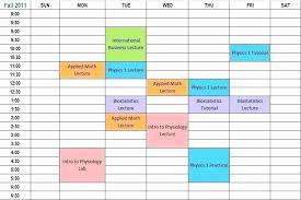 Free College Schedule Academic Planner Template Weekly Academic Schedule Template