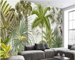 Us 90 40 Offbeibehang Klassieke Retriever Behang Retro Tropische Regenwoud Papegaai Palm Leaf Woonkamer Tv Achtergrond Muur Papel De Parede In