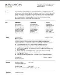 Resume Templates For Civil Engineers Civil Engineer Resume Template