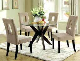 round dining room sets for 4 surprising round glass dining table set white 42 inch round