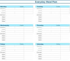 Microsoft Daily Planner Best Meal Plan Template Excel Planner Sample Daily Menu Best Of Picture