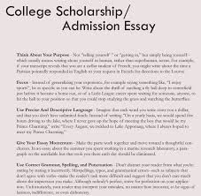 college application essay format