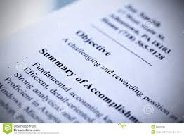 Modern Resume Close Up Stock Photo Image Of Tint Resume 19200738