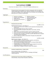 Security Job Resume Example Best of Security Officer Resume Sample Tierbrianhenryco