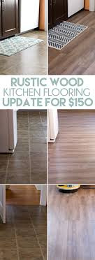 Wood In Kitchen Floors Inexpensive Rustic Wood Kitchen Floors