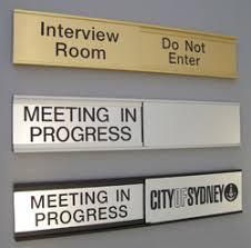 Sliding Door Signs