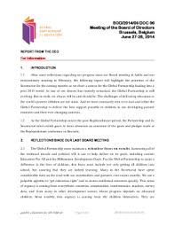 Report From The Ceo June 2014 Global Partnership For