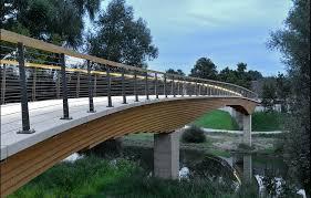 96 metre long wooden bridge designed