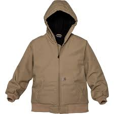 Carhartt Cp8417 Flannel Lined Active Jacket Insulated For Big Boys