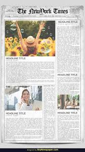 The Times Newspaper Template Newspaper Templates For Word