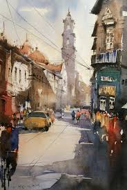 1056x1574 indian watercolor painting gallery watercolor cityscape watercolor painting