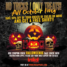 halloween sale flyer october halloween sale on custom apparel inkd apparel