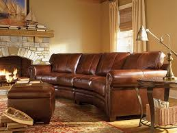 rustic leather living room furniture. Rustic Leather Living Room Furniture Using Curved Sectional Sofa And Ottoman Coffee Table Above Oriental Area I