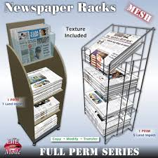 Newspaper rack 1 Amazon Newspaper Racks Styles Mesh Full Permission Copy Modify Transfer Full Perm Series Abc Office Second Life Marketplace Newspaper Racks Styles Mesh Full
