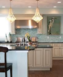 Incredible Delightful Sea Glass Tile Backsplash Coastal Kitchen Coastal Kitchen Backsplash Ideas