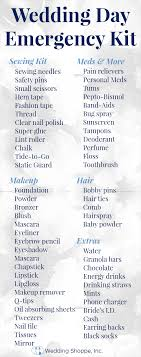 Checklist For Wedding Day The Must Have Wedding Day Emergency Kit Wedding Shoppe