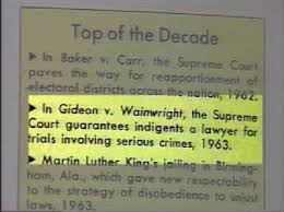 timeline a history of corrections in florida gideon v wainwright makes top of the decade section