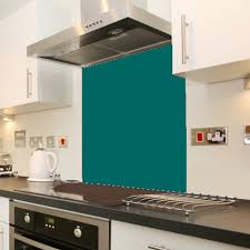 Photo Of The Day Glass Splashback In Ral Colour 5021 Water