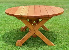 round wood picnic table round redwood picnic table and benches free round wooden picnic table plans round redwood picnic table plans round wood picnic table