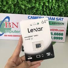 Thẻ Nhớ MicroSDXC Lexar 64GB Class 10 U1 100Mb/S - Hàng Chính Hãng - Thẻ nhớ  máy ảnh