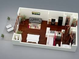 One Bedroom Apartment Design Model