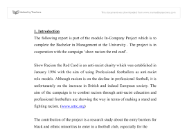 show racism the red card gcse religious studies philosophy  document image preview