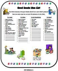 Image Result For Ramadan Good Deeds Chart Good Deeds