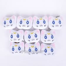 anime sailor moon black cat luna white artemis mini plush keychain dolls pendant toys 8cm