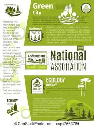 Green Layouts Green City Eco Business Ecology Poster Template