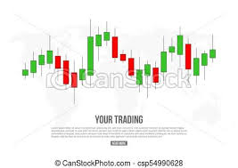 Creative Vector Illustration Of Forex Trading Diagram Signals Isolated On Background Buy Sell Indicators With Japanese Candles Pattern Exchange