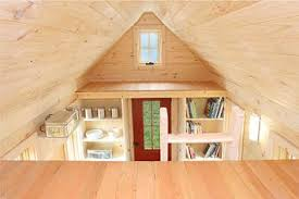 Lusby Tiny House Plans   Build it yourself Lusby view from the loft