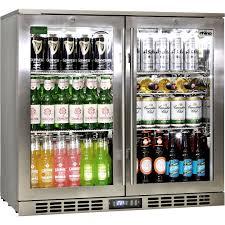 rhino 2 door triple glass door bar fridge front venting so can be built into