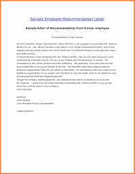 8 Sample Letters Of Recommendation For Employment Corpus Beat
