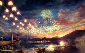 夏祭りと花火1280 X 800の壁紙 壁紙キングダム Pcデスクトップ版