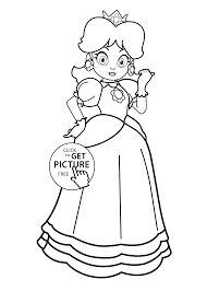 Princesse Supermario Coloring Page For Girls Printable 2 Coloing