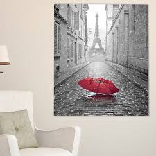 eiffel view from paris street cityscape photo glossy metal wall art free shipping today overstock 24824637 on red umbrella metal wall art with eiffel view from paris street cityscape photo glossy metal wall