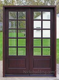 10 lite mahogany clear insulated beveled glass 10 lite mahogany patio doors
