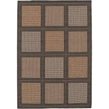 outdoor rug summit 4 x 5 black cocoa tan beige patio couristan recife about this picture 1 of 1