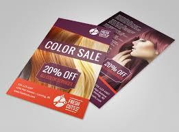 Sales Flyers Template Hair Salon Color Sale Flyer Template Mycreativeshop