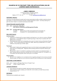 10 Cv Template For Student Part Time Job Instinctual Intelligence