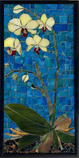 stained glass mosaic wall art framed